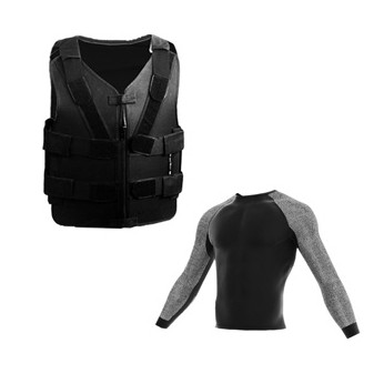 pack chaleco antipunzon+camiseta anticorte