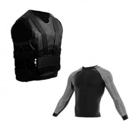 pack chaleco antipunzon velcro+camiseta anticorte