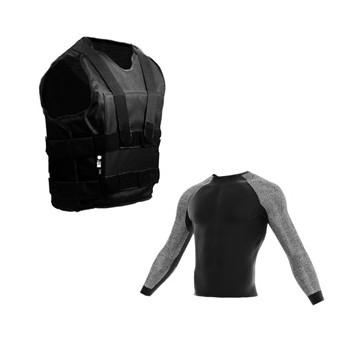 pack chaleco antipunzon velcro+camiseta anticorte