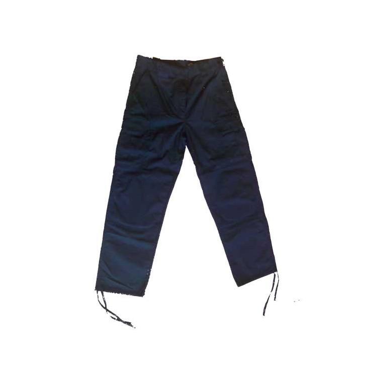 Pantalon De Trabajo Multibolsillos Color Azul Marino Talla Xxl Material Policial