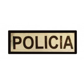 DISTINTIVO POLICIA REFLECTANTE